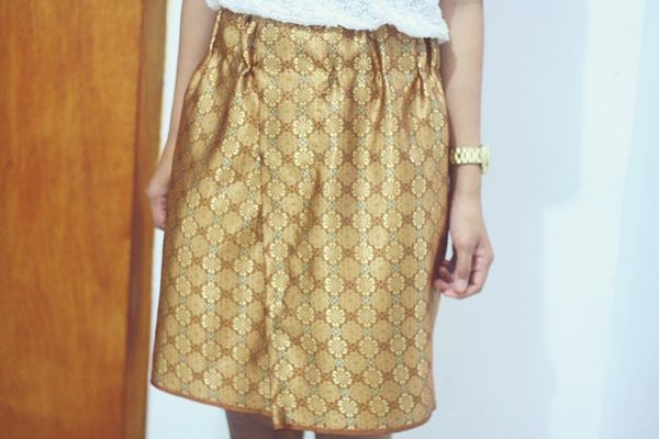 Songket Folded Skirt