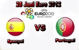 Spanyol vs Portugal Semifinal Euro 2012