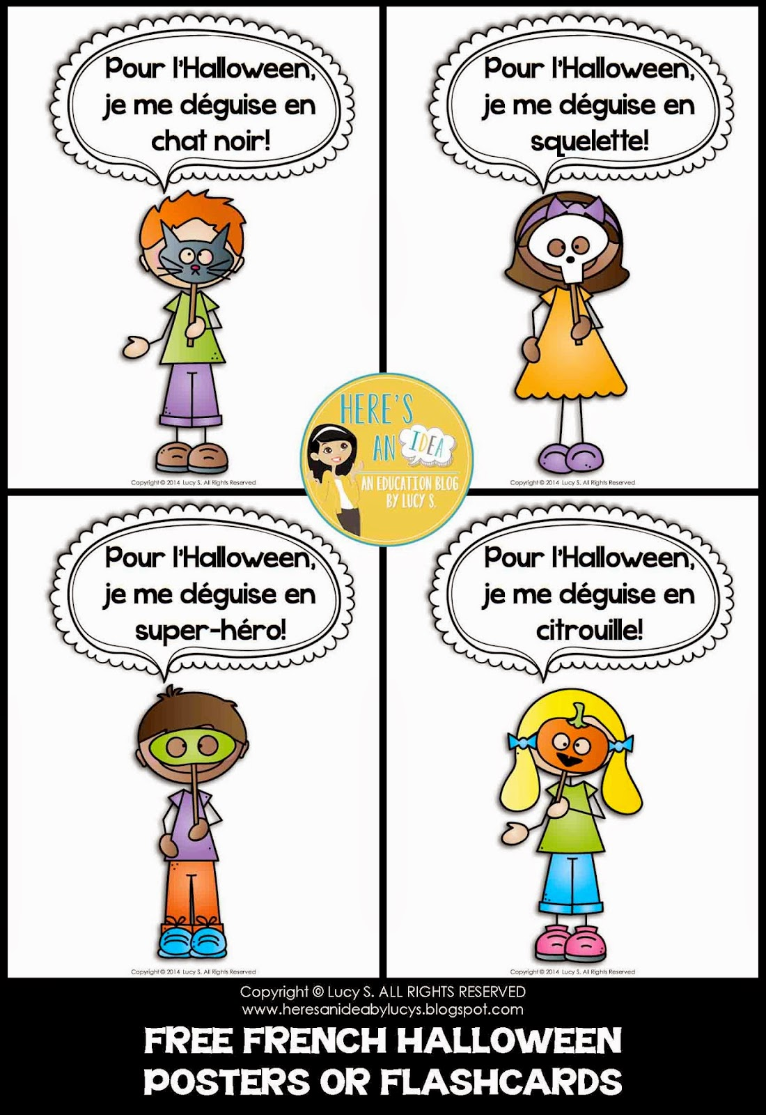 FREE French Halloween Posters