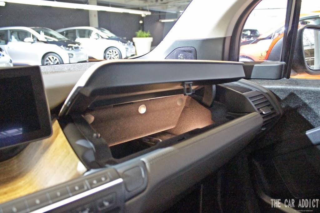 BMW i3 glove compartment