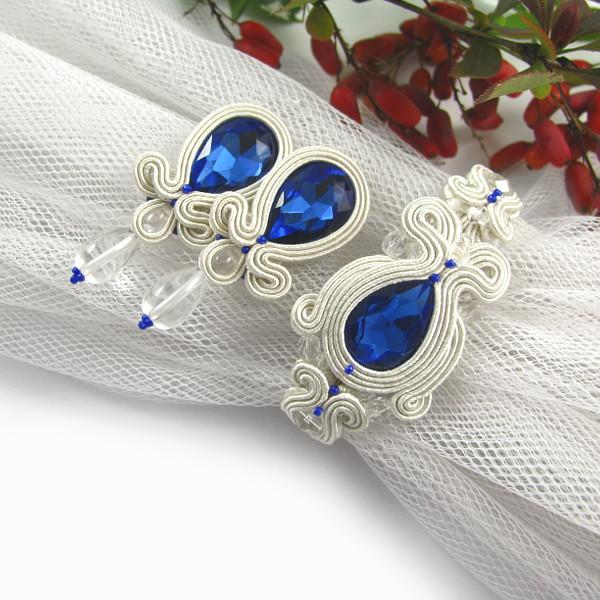 niebieska biżuteria ślubna sutasz