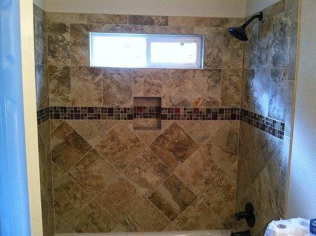 Tile Shower over Tub