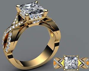 Engagement pearl Rings 2013