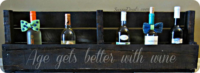 diy wood pallet wine rack holder
