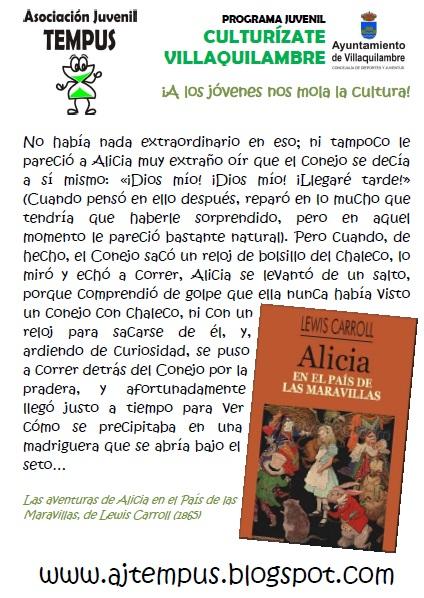 Lee ALICIA EN EL PAÍS DE LAS MARAVILLAS