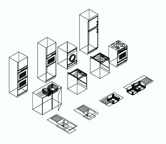 Architecturewrassi3ali fichier autocad format dwg for Cuisine 3d autocad