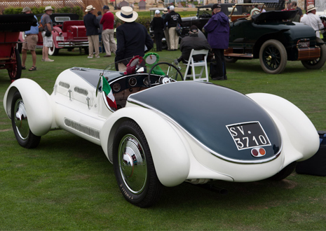 The Alfa Romeo 6C name was used on road, race and sports cars made between 1925–1954 by Alfa Romeo. 6C refers to a straight 6 engine. Bodies for these cars were made by coachbuilders such as James Young, Zagato, Touring, Castagna, and Pininfarina. Starting from 1933 there was also a 6C version with a factory Alfa body, built in Portello. In the early 1920s Vittorio Jano got a task to create a lightweight, high performance vehicle to replace the Giuseppe Merosi designed RL and RM models. The car was introduced in April 1925 at the Salone dell' Automobile di Milano as the 6C 1500. It was based on the P2 racing car, using single overhead cam 1,487 cc inline six-cylinder motor producing 44 horsepower, in the 1928 was presented the 1500 Sport which was the first Alfa Romeo road car with double overhead camshafts.