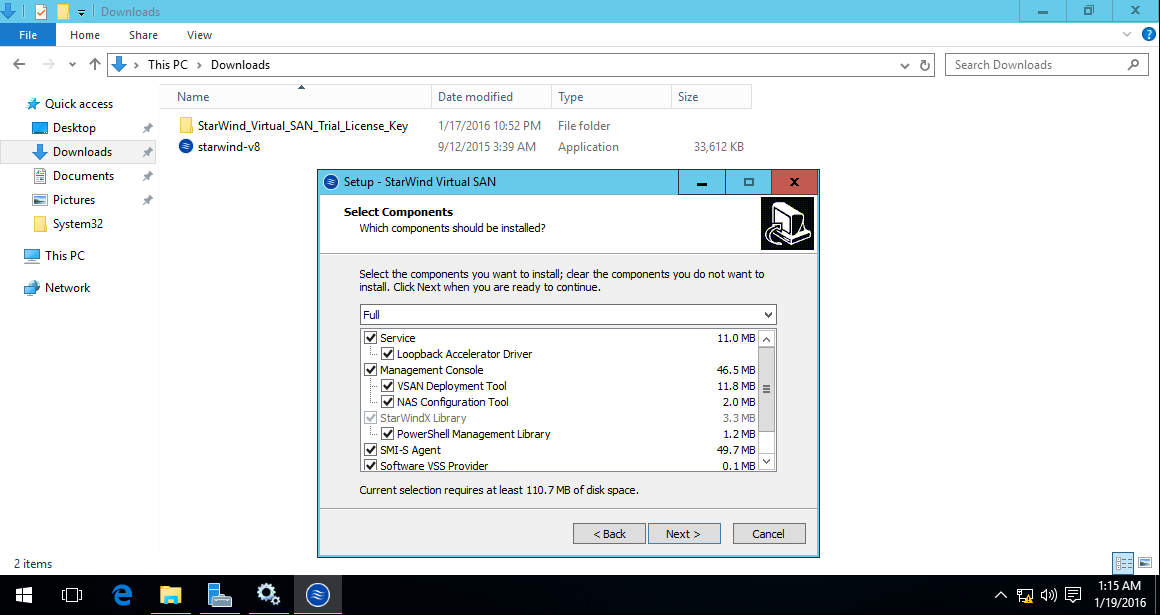 Part 1 Downloading And Installing Starwind On Win2k16