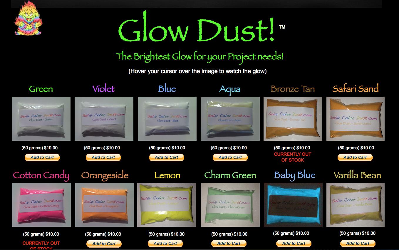 http://solarcolordust.com/Site/Glow_Shop.html