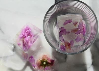 Cubitos de hielo con flores en Recicla Inventa