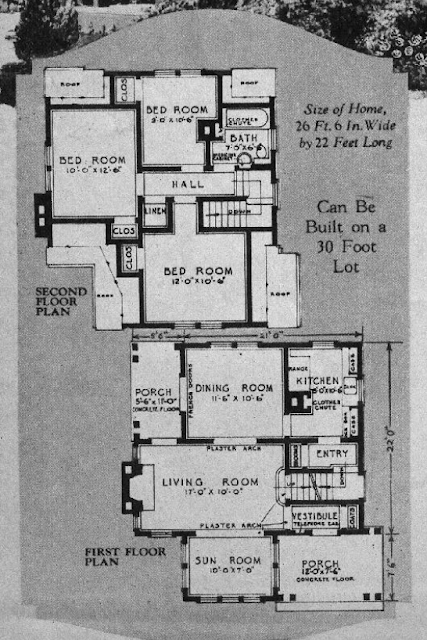 Sears house seeker wardway devonshire and sears kilbourne for Devonshire floor plan