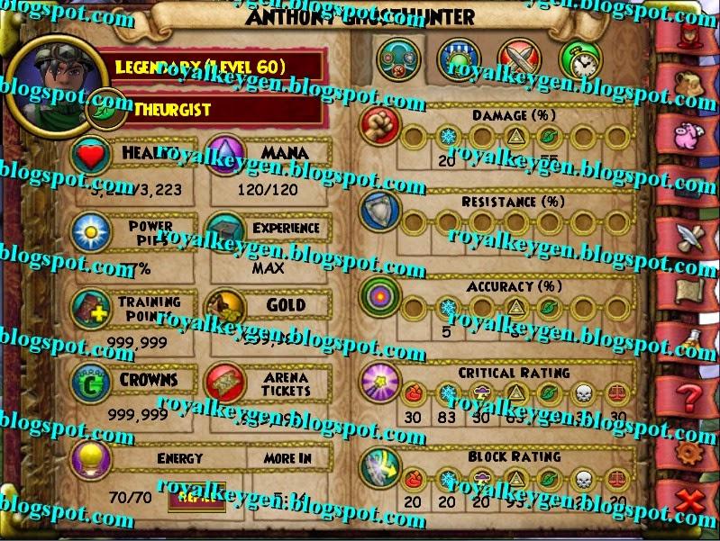 free keygens and hacks wizard101