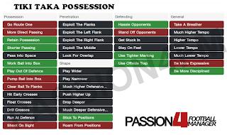 FM14 Shouts Tiki Taka Possession