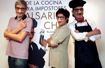 Mikel Iturriaga, Montse Domínguez y Falsarius Chef