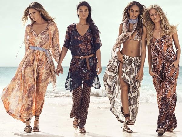 vestidos largos estampados y faldas largas H&M verano