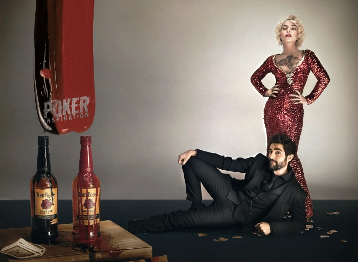 "Dani Mateo y  Vinila von Bismark son  ""Poker Inspiration"" para Four Roses"