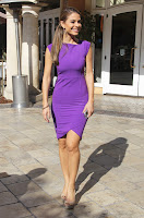 Maria Menounos super hot in a purple dress