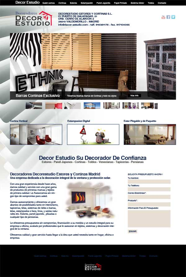 Cortinas y Estores - Decor Estudio las rozas Madrid