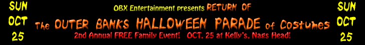 2nd Annual Outer Banks Halloween Parade - October 25, 2015!