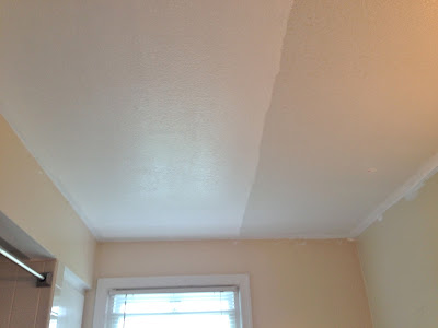 eclectified living tackling the bathroom ceiling. Black Bedroom Furniture Sets. Home Design Ideas