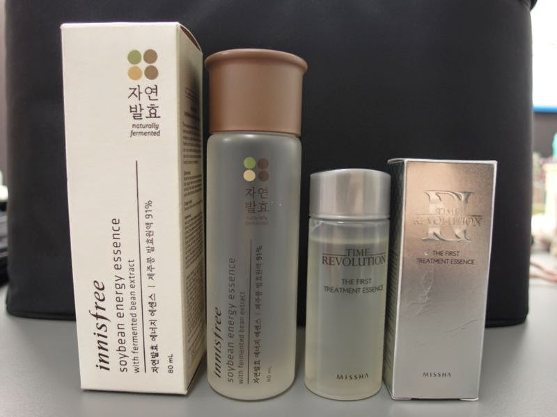 SK-II Dupes Innisfree Soybean Energy Essence versus vs missha First Treatment Essence FTE review comparison blog beauty blogger singapore lunarrive korean skincare