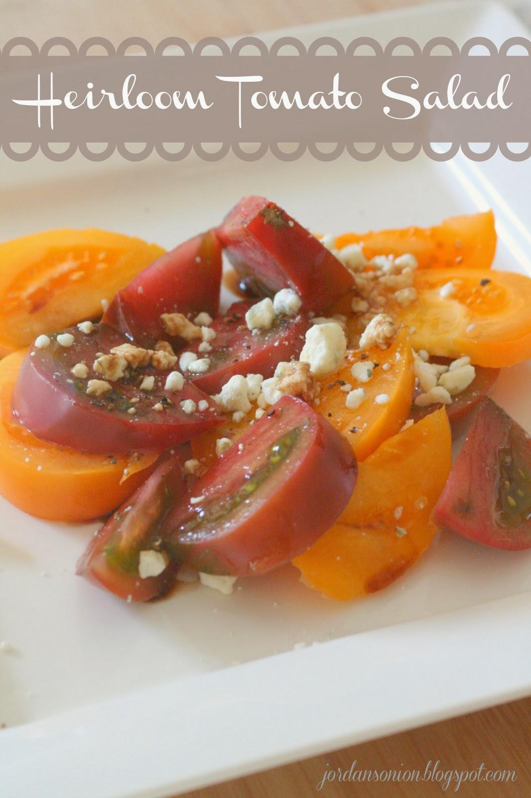 Jordan's Onion: Heirloom Tomato Salad