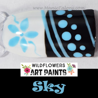 Wildflowers Nail Art Paint Sky