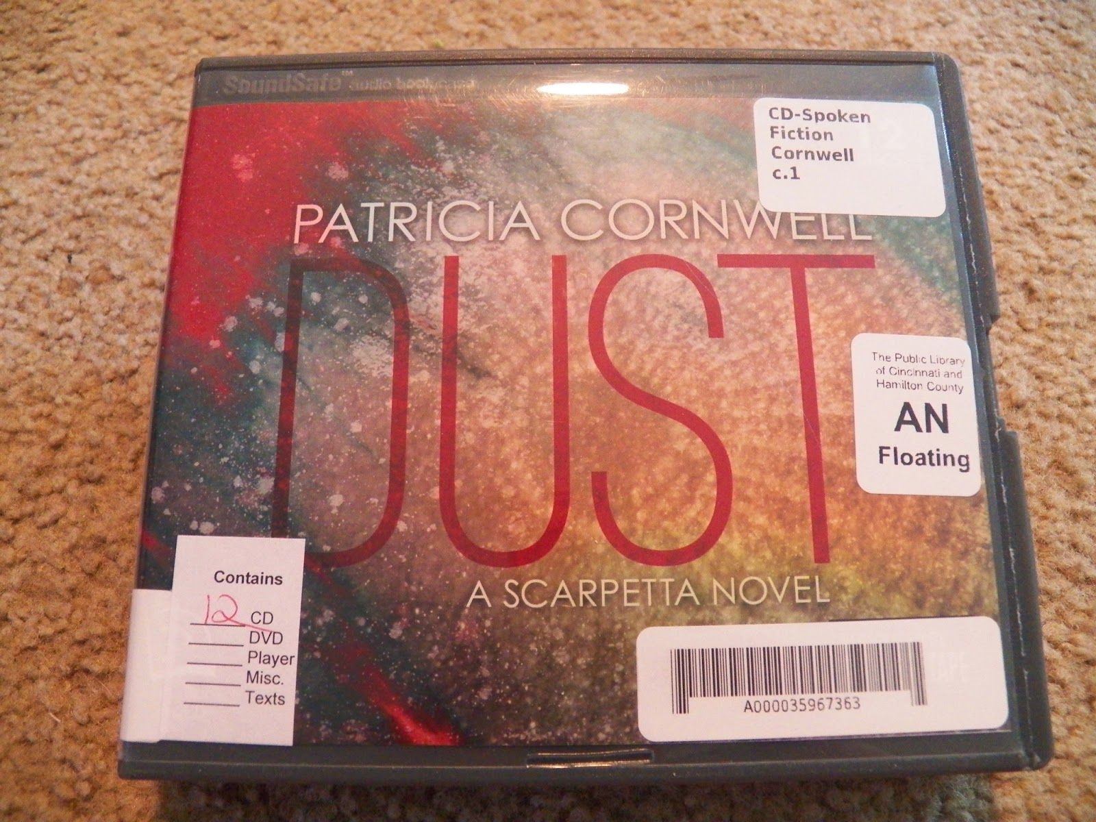 http://www.amazon.com/Dust-Scarpetta-Novel-Patricia-Cornwell/dp/0399157573