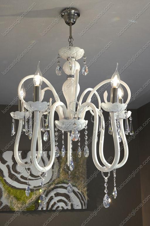Lucicastiglione fabbrica lampadari: Oxford 5 luci con cristalli ...