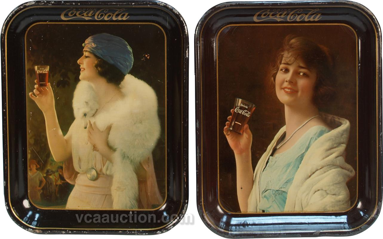 dating coca cola trays