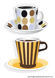 Dibujos de tazas de cafes para imprimir