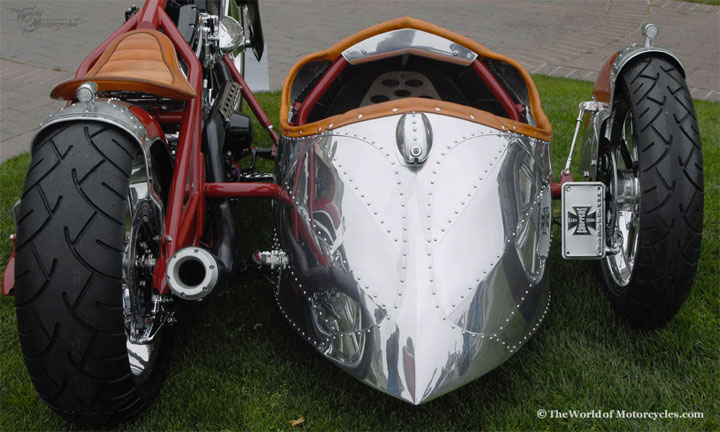 Custom Motorcycle with Sidecar