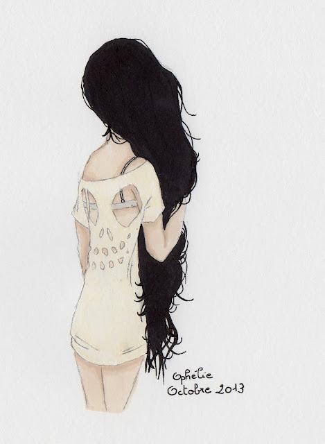 fimoph lie dessin fille aux cheveux noirs. Black Bedroom Furniture Sets. Home Design Ideas