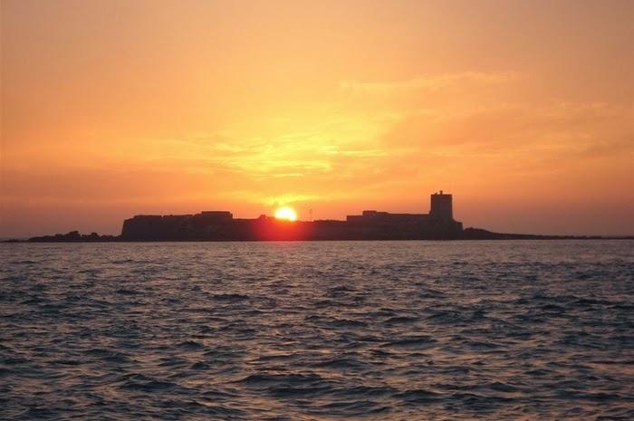 zonsondergang Isla de Sancti Petri