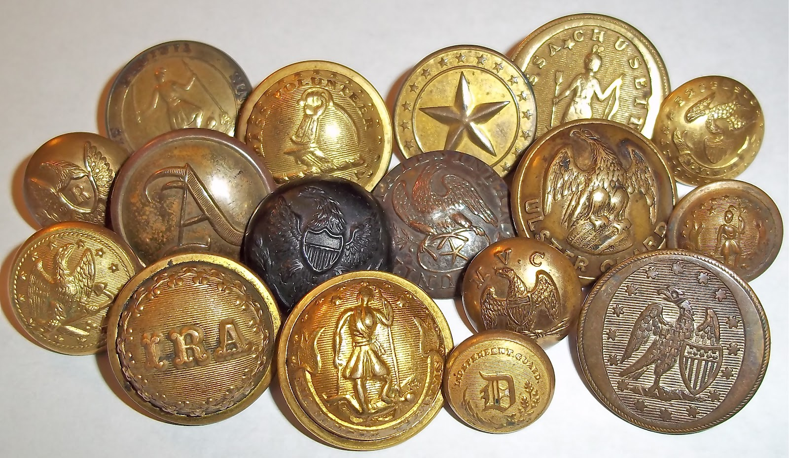 Antique Military Buttons