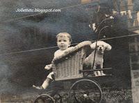 "John Jr and ""Cutey"" New York 1918  http://jollettetc.blogspot.com"