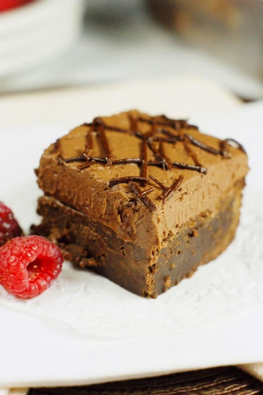 Raspberry Truffle Brownies ~ rich from-scratch dark chocolate brownies ...