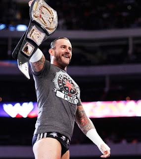 CM Punk the Champion - with an ugly belt!