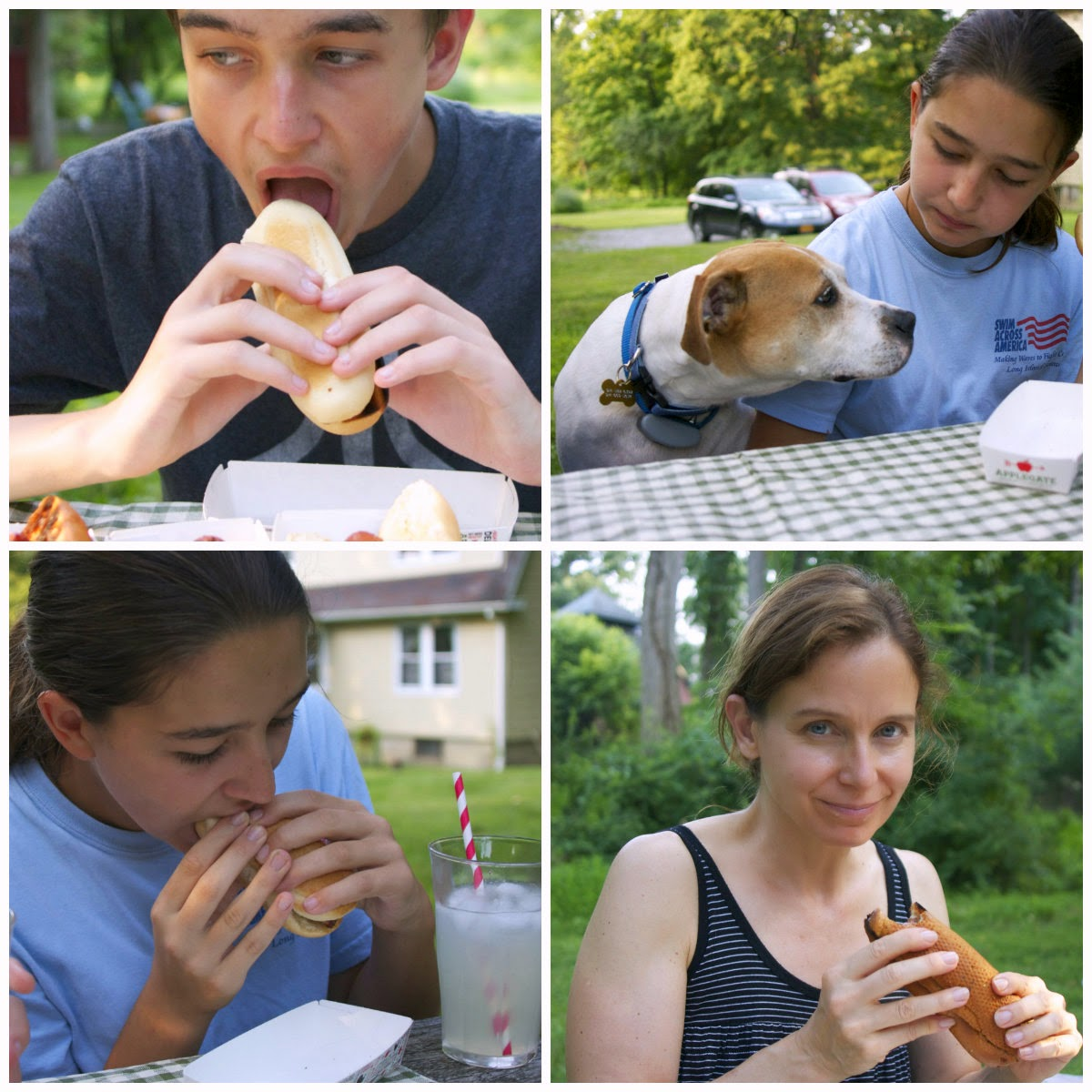 eating hot dogs collage: simplelivingeating.com