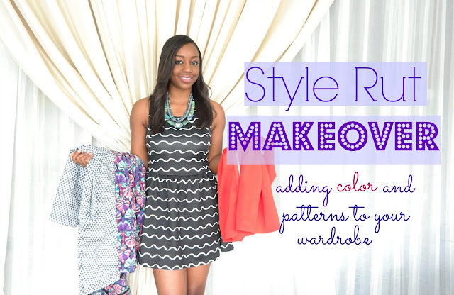 stuck in a fashion rut, style rut, fashion makeover, style makeover, budget makeover, adding color in your wardrobe, adding patterns in your wardrobe, boring wardrobe, columbus, ohio makeovers, jewels with style, youtube style videos, youtube fashion videos, youtube style advice videos, black fashion blogger, black style blogger