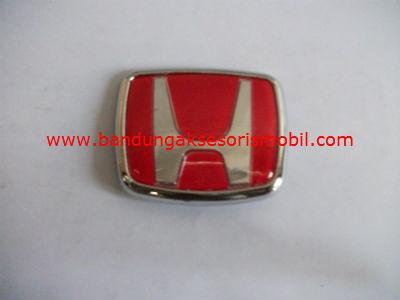 Emblem Exclusive Logo Mobil Honda Merah Besar