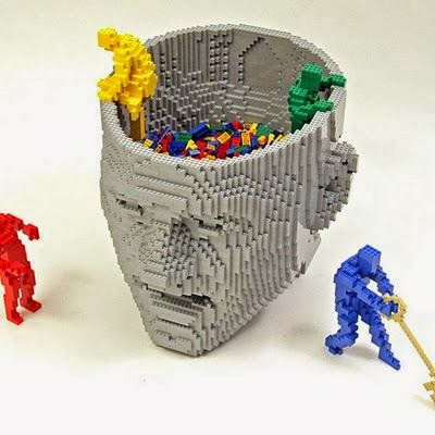 Lego art Think by Nathan Sawaya