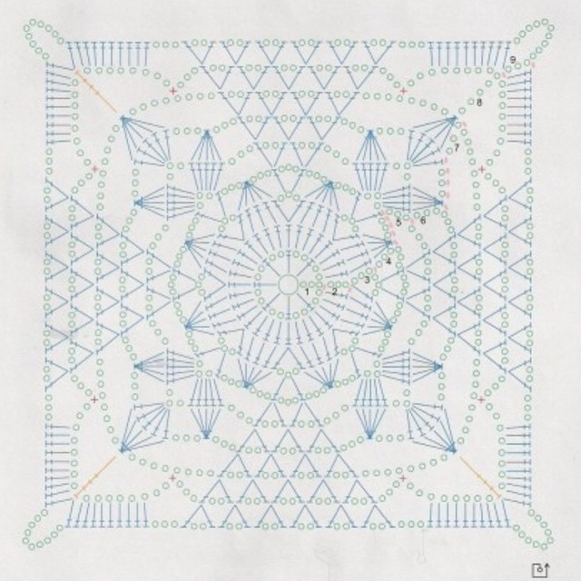 Crochet Lace Patterns Diagram : funkycrochet: New Crochet Crush - Rustic Lace Square ...