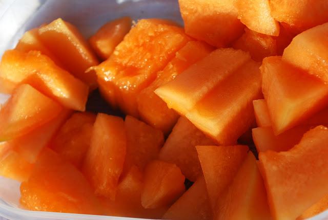 melionas, melon, picnic