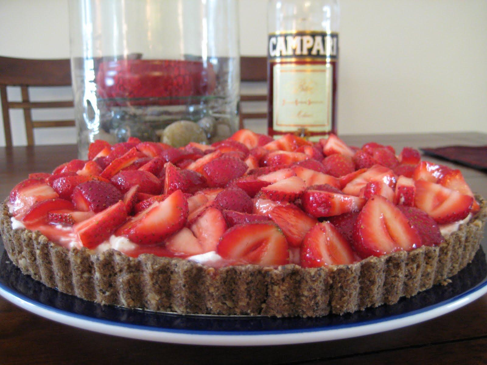 The Lush Chef: Strawberry Campari Tart