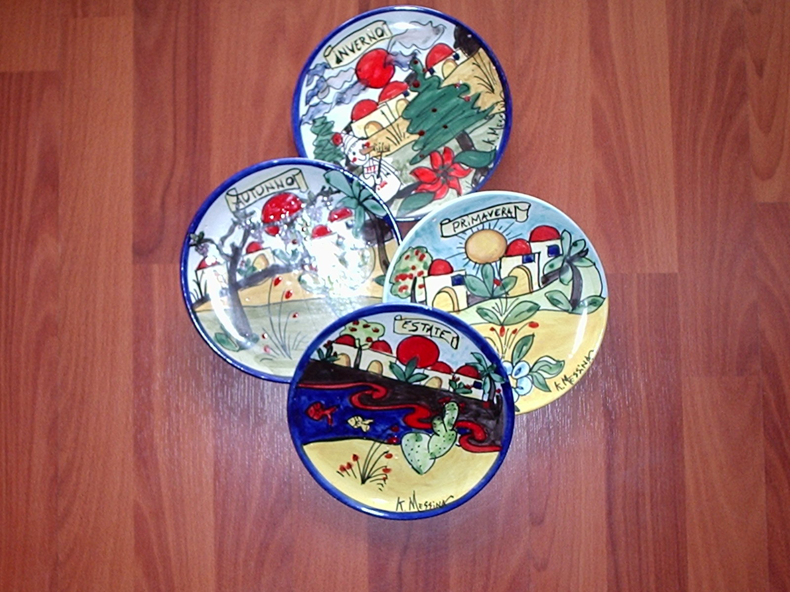 Ceramiche e dintorni: piatti 4 stagioni