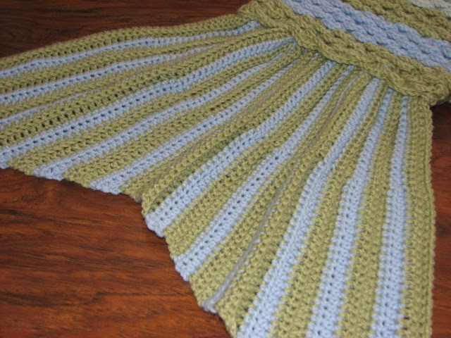 Creative Crochet by Becky: Crochet Mermaid Tail Afghan ...