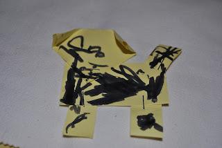 craft, catelusi din post-it