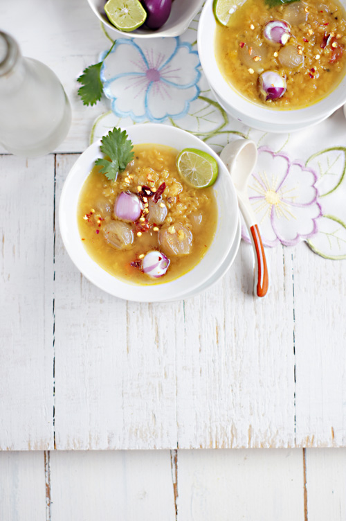 Soma Rathore from eCurry with Red Lentils with Pearl Onion