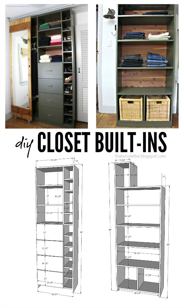 walk-in closet makeover with built-ins free plans